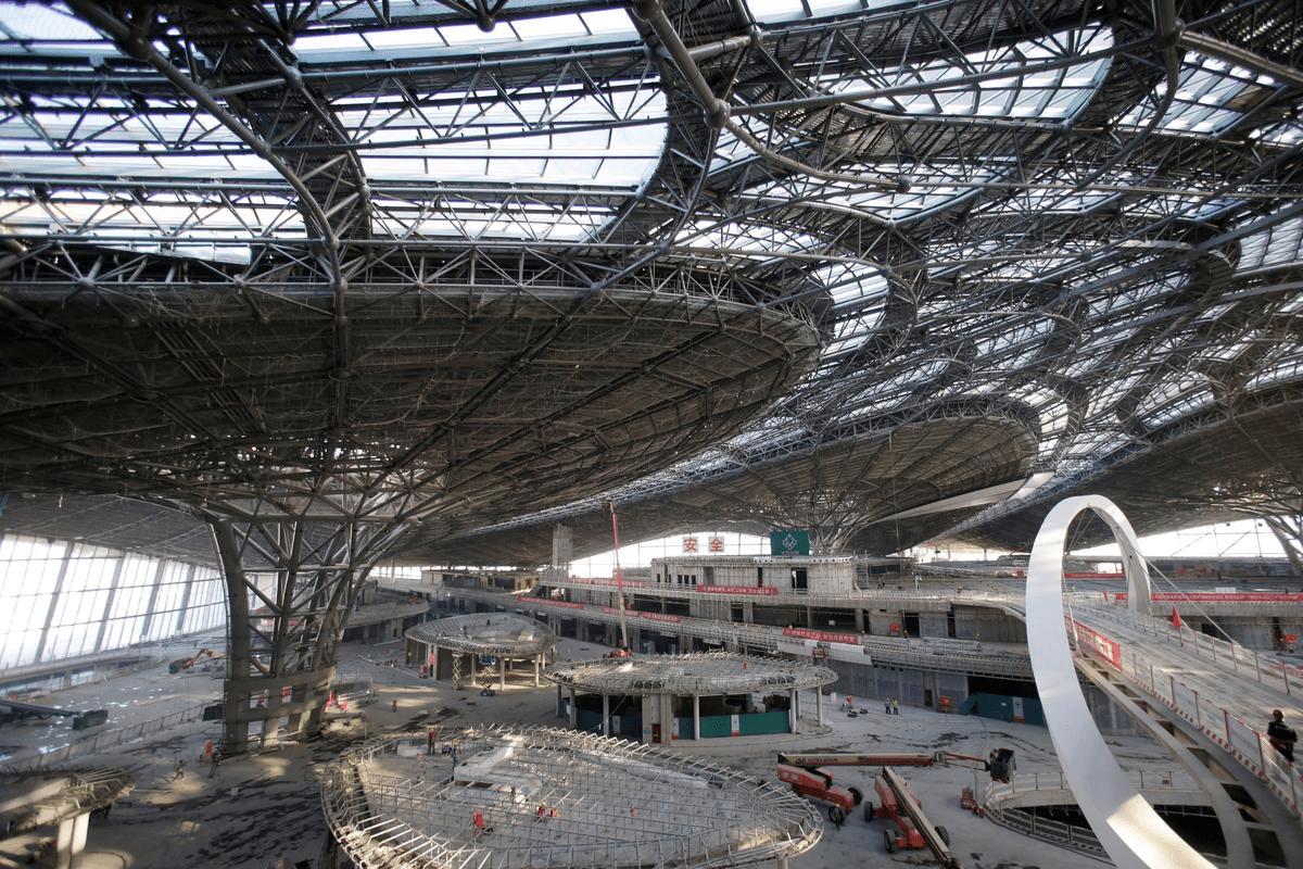 Будівництво міжнародний аеропорт Пекін Дасін, внутрішні роботи