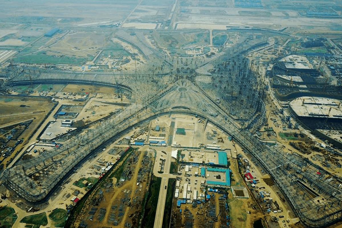 Будівництво міжнародний аеропорт Пекін Дасін, каркас