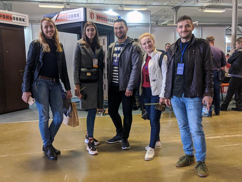 студенти кафедри будівельної механіки на осінньому будівельному форумі 2019