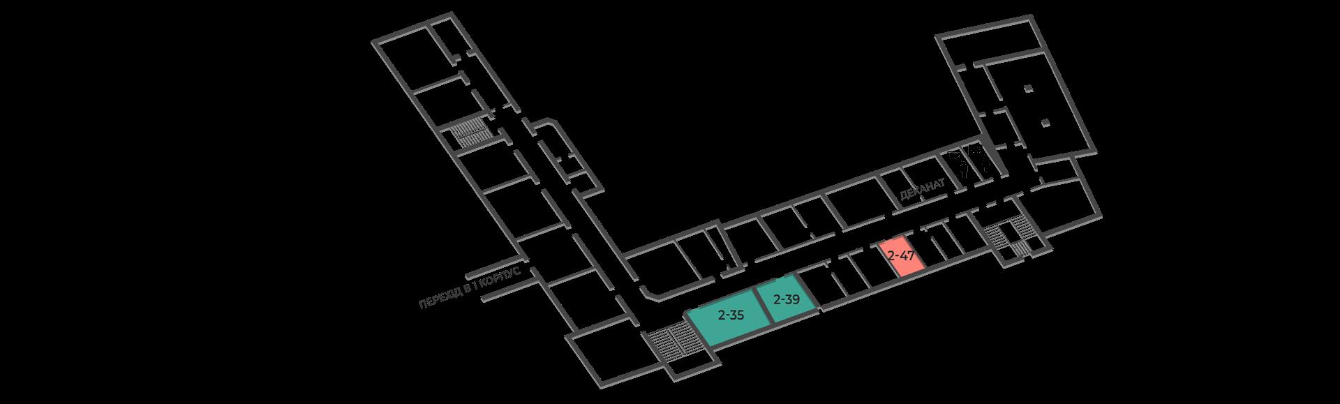 розміщення аудиторій кафедри будівельної механіки корпус тнту №2, другий поверх